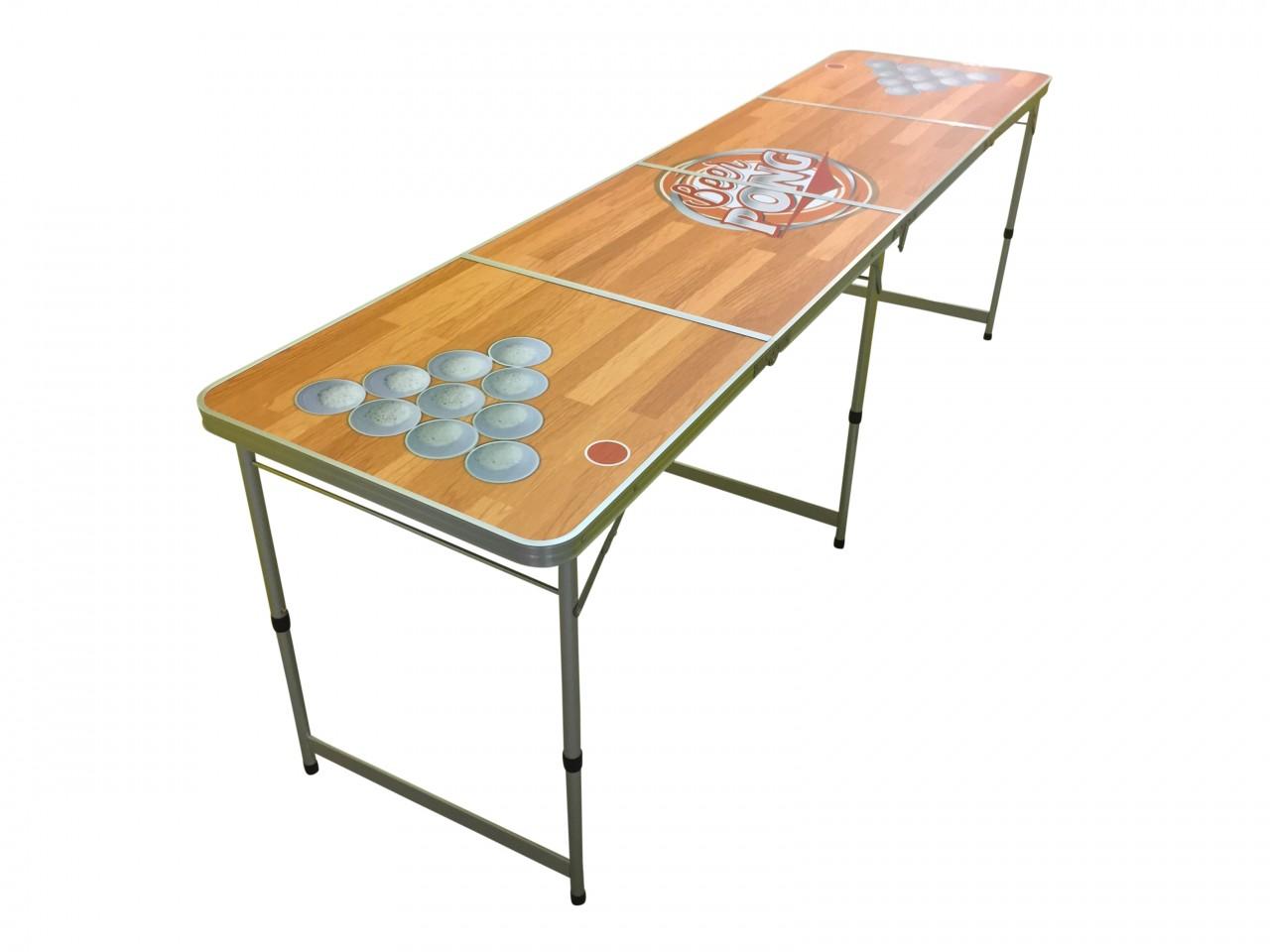 official size 8 39 foot folding beer pong 4 section table eazy goods. Black Bedroom Furniture Sets. Home Design Ideas