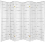 JAPANESE ROOM DIVIDER  - WHITE 6 PANELS