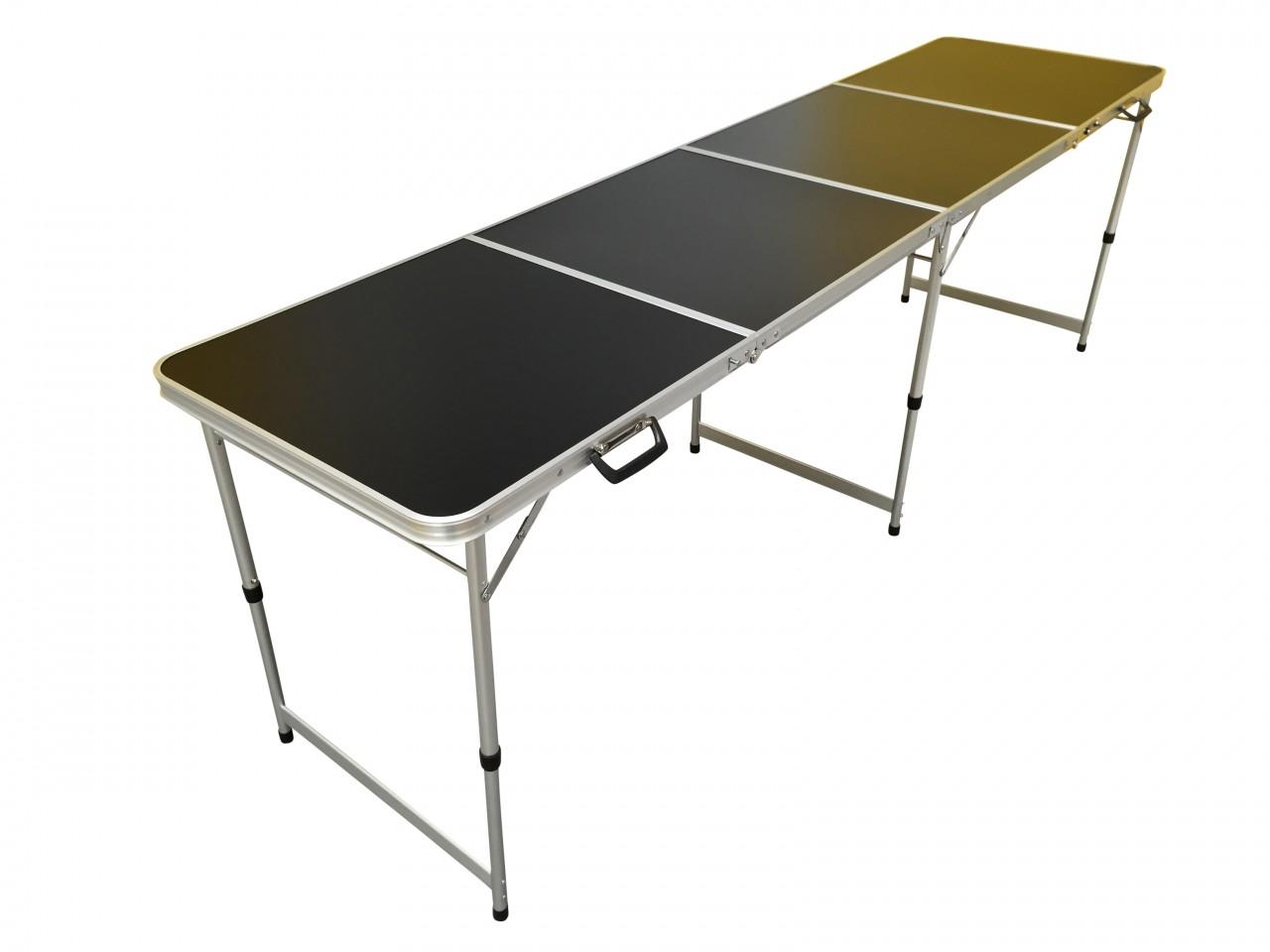8FT ALUMINIUM LIGHTWEIGHT FOLDING TABLE BLACK Eazy Goods