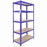 Heavy Duty Metal Shelving Unit 150 x 75 x 30 cm - Blue