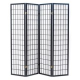 JAPANESE ROOM DIVIDER  - BLACK 4 PANELS